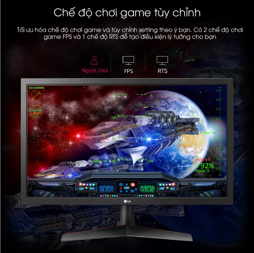 24GL600F-B chế độ chơi game tùy chinht