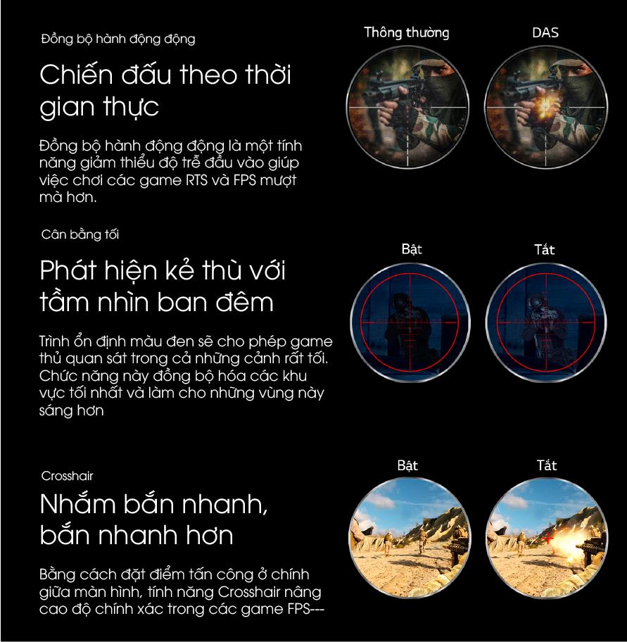 24GL600F-B Man hinh chuyen danh cho game thu