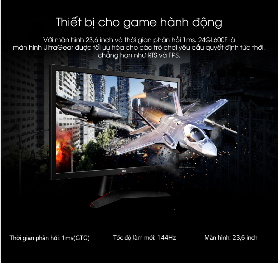 LG 24GL60F-B man hinh danh cho game thu