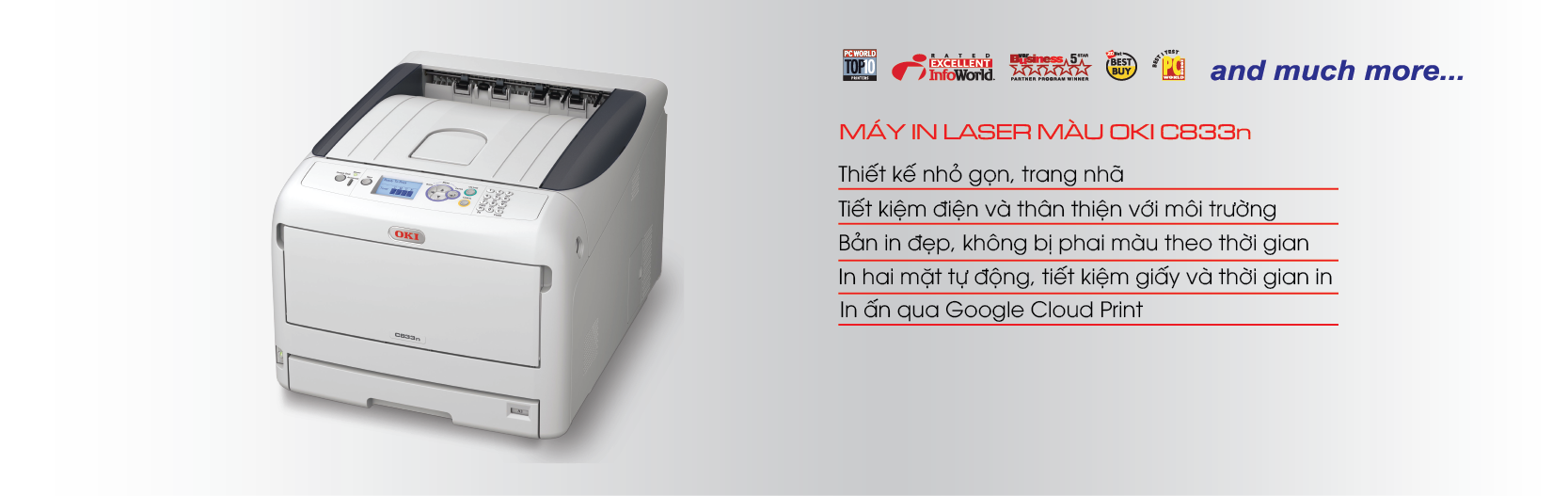 May in laser màu OKI C833n