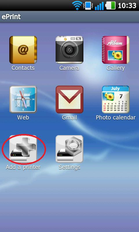 Cài đặt máy in để in bằng chương trình ePrint trên Iphone, Ipad